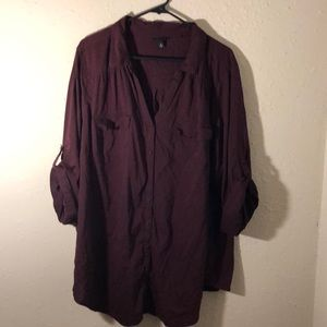 Dark Purple Torrid Blouse Size 4